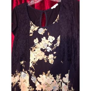 Maurices Floral Lace Blouse